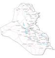 Iraq Black White Map vector image