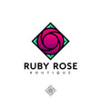 logo ruby rose vector image