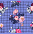 lovely floral seamless pattern with semi-colored vector image