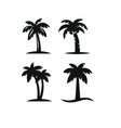 tree palms set vector image