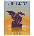 Ljubljana Vintage Poster vector image