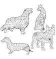 Coloring set pets vector image vector image