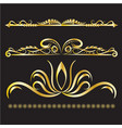 gold vintage decorations elements flourishes vector image vector image