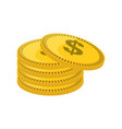 isolated gold coin vector image