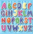 set of cute childish cartoon colored alphabet i vector image