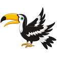 cute toucan cartoon vector image vector image