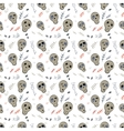 Seamless pattern skulls on a white vector image