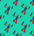 Seamless pattern UFO-17 vector image