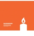 Candle sign icon Fire symbol vector image