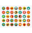 Color food icons set Fruits and Vegetables icons vector image