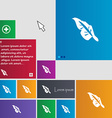 Feather icon sign buttons Modern interface website vector image