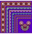 floral vintage frame design on violet colour vector image