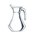 glass jar sketch vector image