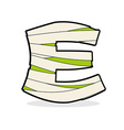 Letter E Monster zombie Alphabetical icon medical vector image