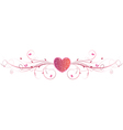 pink heart floral vector image
