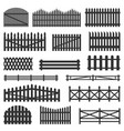 rural fences wooden set vector image