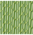 Seamless background with green bamboo vector image