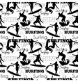Surfing People California Black And White vector image