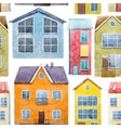 Watercolor houses pattern vector image