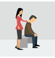 Women encourage her husband who is depressed vector image