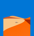 young arab resting in the sand dunes vector image