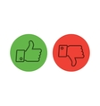 Thumb up icons set vector image