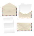 Envelope and paper sheets vector image