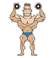 Bodybuilder isolated on white vector image vector image