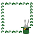 clover and rabbit vector image vector image