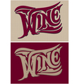 set of two calligraphic inscriptions wine vector image