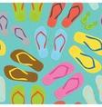 Flip flops pattern vector image
