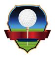 Golf Emblem Badge vector image