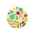 Vegetables round composition vector image