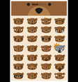 Bear emoji icons vector image