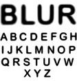 Blur alphabet vector image