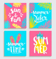 bright cards for summer vector image