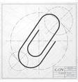 clip icon vector image