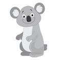 cute grey koala vector image