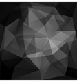 Geometric black background vector image