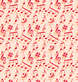Music notes Seamless wallpaper vector image