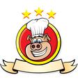 pig chef head vector image