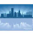 Providence Rhode Island skyline city silhouette vector image