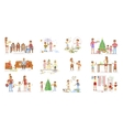 Set of big Family portrait vector image