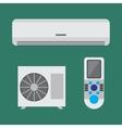 Air conditioner equipment set flat vector image