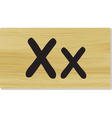 wooden letter X vector image vector image