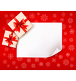 Christmas background with gift boxes and red bow vector image vector image