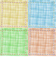 set of textile backgrounds vector image vector image
