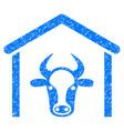 cow garage icon grunge watermark vector image