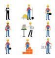 construction engineering industrial workers vector image