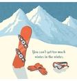 Snowboard winter mountain landscape vector image